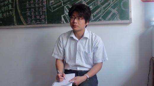 赵传明老师(前一)在听课